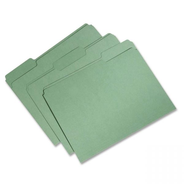 SKILCRAFT Recycled Green Colored File Folders