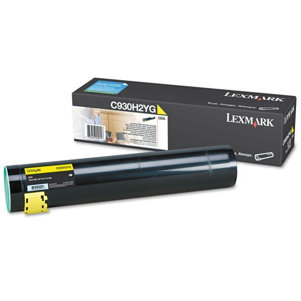 Lexmark C930H2YG Yellow High Yield Toner Cartridge