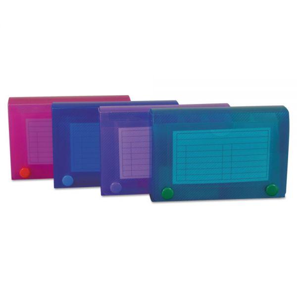 C-Line Index Card Case, Holds 100 3 x 5 Cards, Polypropylene, Assorted Colors