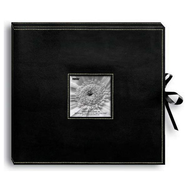 "Sewn Leatherette D-Ring Scrapbook Box 13""X14.5"""