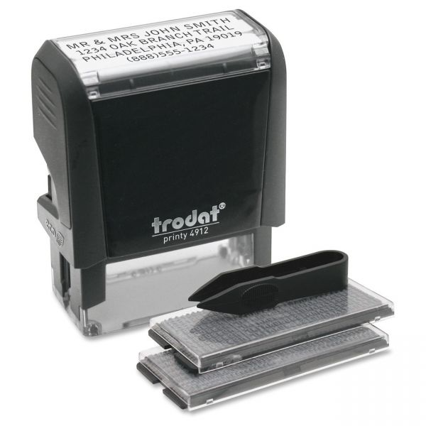 Trodat Self-Inking Do It Yourself Message Stamp, 3/4 x 1 7/8