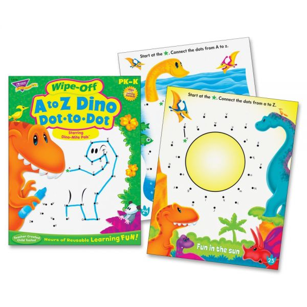 Trend A to Z Dino Dot to Dot Wipe-off Book Learning Printed Book