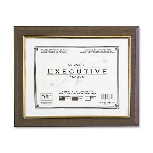 Nu-Dell Insertable Executive Award Plaque