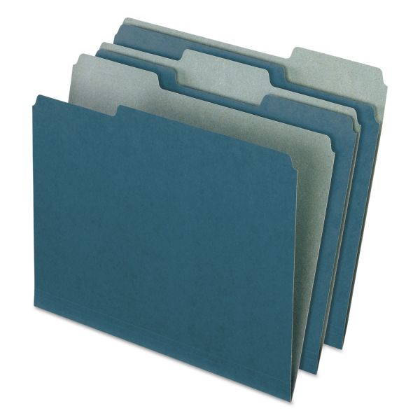 Pendaflex Earthwise Recycled Blue Colored File Folders