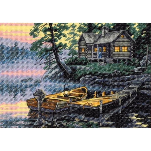 Dimensions Gold Petite Morning Lake Counted Cross Stitch Kit