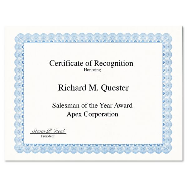 Geographics Blank Certificates