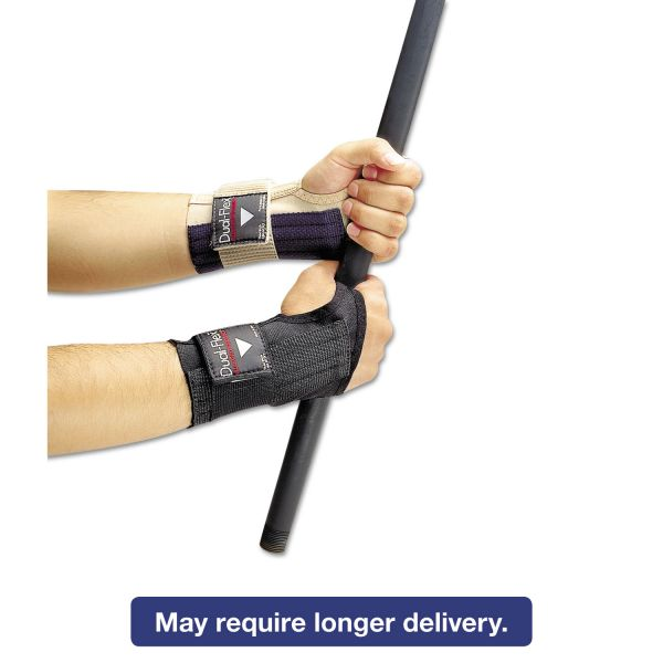 Allegro Dual-Flex Wrist Supports, Medium, Nylon, Black
