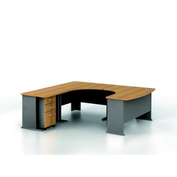 bbf Series A Professional Configuration - Light Oak finish by Bush Furniture