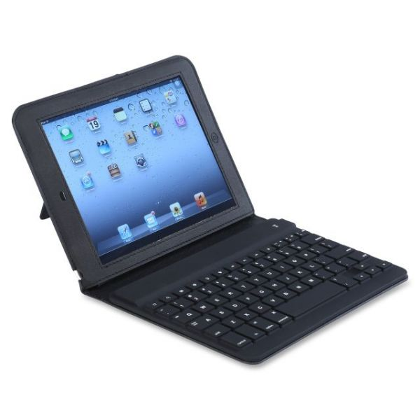 Compucessory Keyboard/Cover Case (Folio) for iPad Air - Black