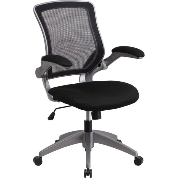 Flash Furniture Mid-Back Mesh Task Chair with Flip-Up Arms