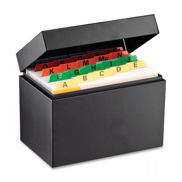 SteelMaster Index Card File, Holds 500 4 x 6 Cards, Black