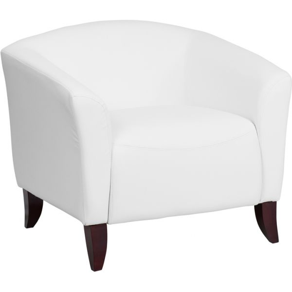 Flash Furniture Imperial Series White Leather Chair [111-1-WH-GG]