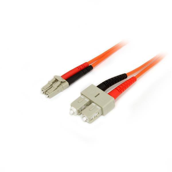 StarTech.com 2m Multimode 62.5/125 Duplex Fiber Patch Cable LC - SC