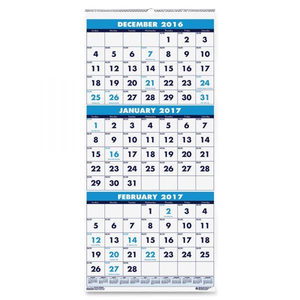 House of Doolittle 3-Month Wall Calendar