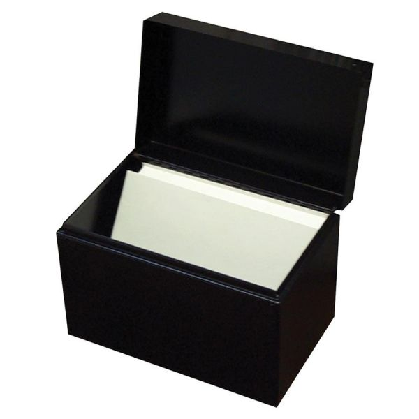 Buddy Hinged Cover Card File Box