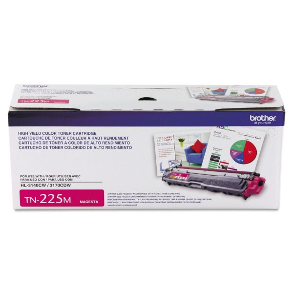 Brother TN-225M High-Yield Toner Cartridge
