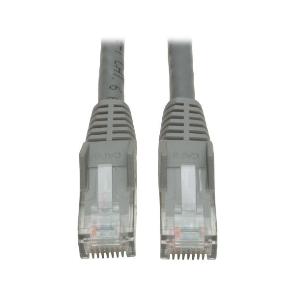 Tripp Lite 2ft Cat6 Gigabit Snagless Molded Patch Cable RJ45 M/M Gray 2'
