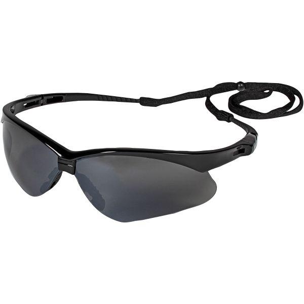 Jackson Safety* V30 Nemesis Safety Glasses, Black Frame, Smoke Lens