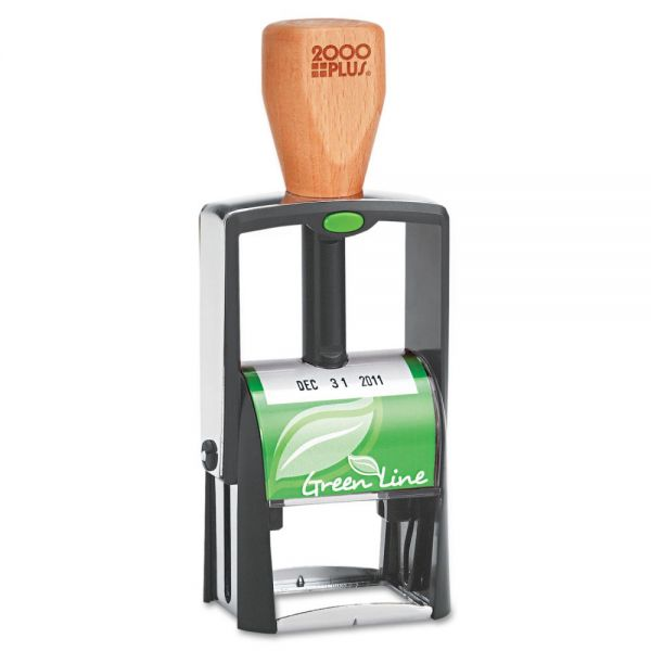 COSCO 2000PLUS Green Line Self-Inking Heavy Duty Stamp, 1 1/4 x 5/8, Black
