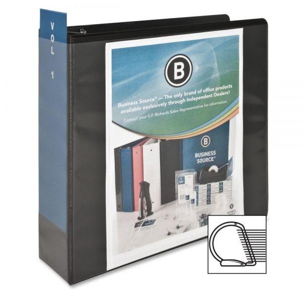 "Business Source Basic 3"" 3-Ring View Binder"