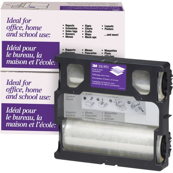 3M Glossy Refill Rolls for Heat-Free Laminating Machines,100 ft.