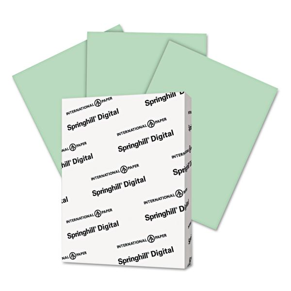 Springhill Digital Index Green Colored Card Stock