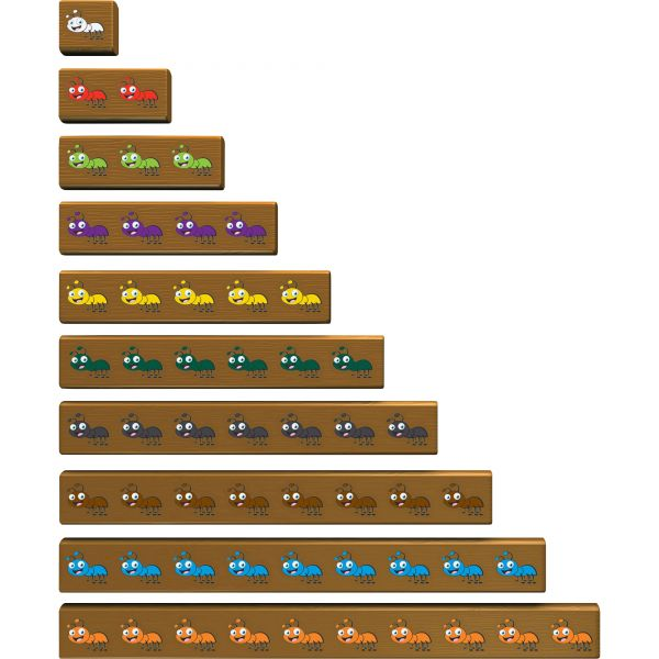 Cuisenaire Rods Cuisenaire Jr Ants On Log Actvty Set