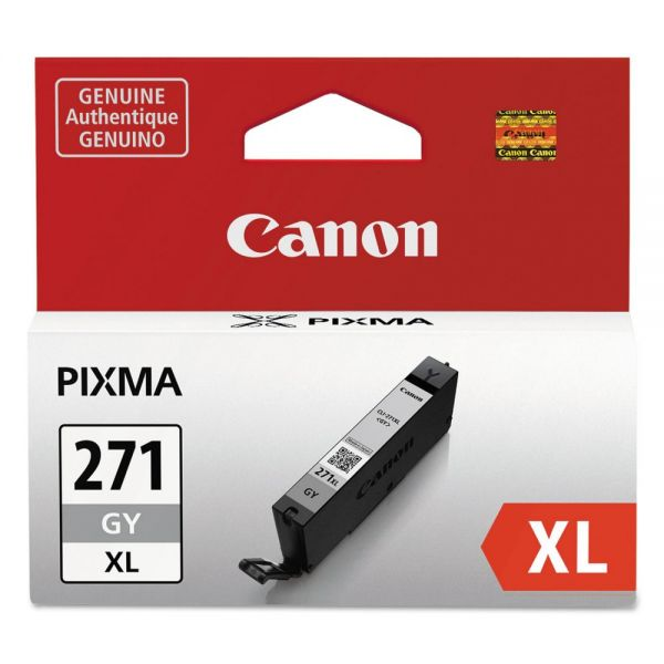 Canon 0340C001 (CLI-271XL) High-Yield Ink, Gray