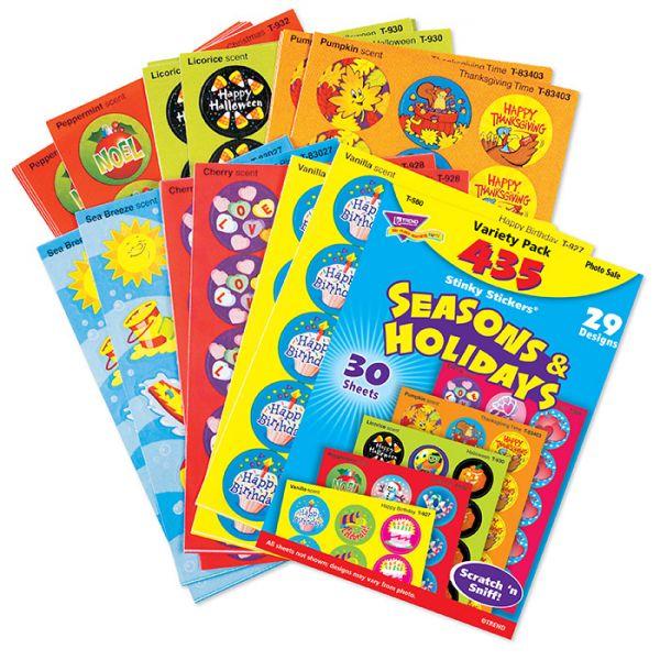 Trend Seasons & Holidays Stinky Stickers Variety Pack
