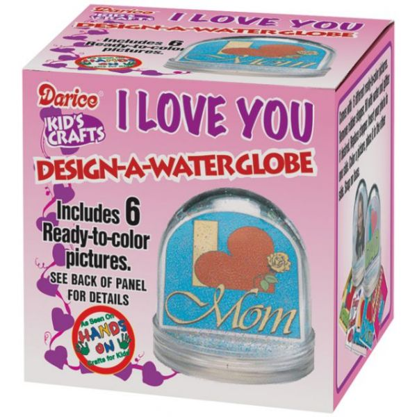 "Darice ""I Love You"" Design-A-Waterglobe"