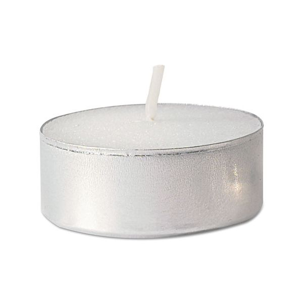 FancyHeat Tealight Candle, White, 5 Hour Burn, 500/Carton