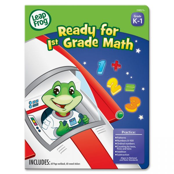 The Board Dudes Leap Frog First-grade Math Workbook Education Printed Book for Mathematics