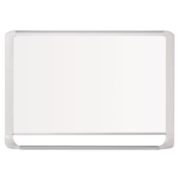 "MasterVision 96"" x 48"" Gold Ultra MVI Series Magnetic Painted Steel Dry Erase Whiteboard"