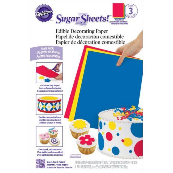 """Sugar Sheets 8""""X11"""" 3/Pkg"""""""