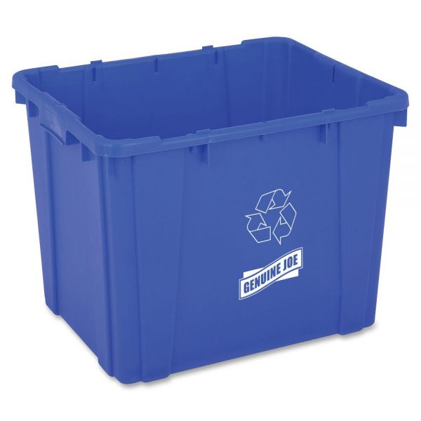 Genuine Joe 14-Gallon Recycling Bin