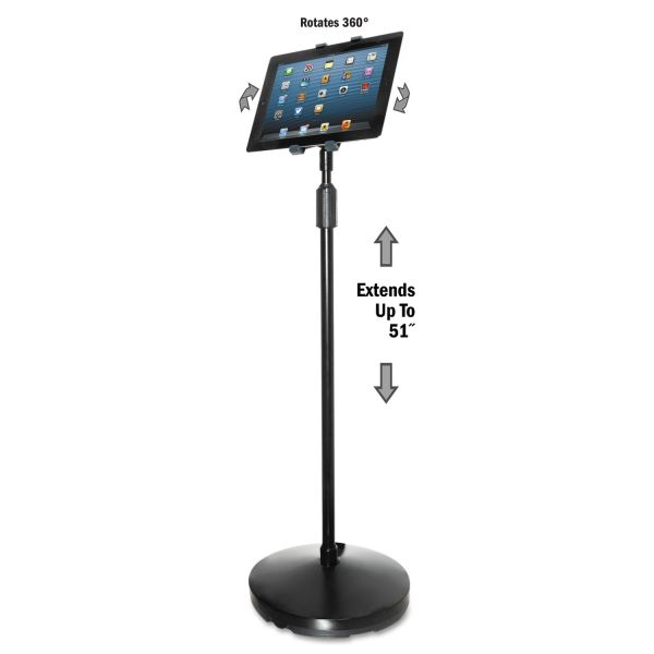 Kantek Floor Stand for iPad and Other Tablets, Black
