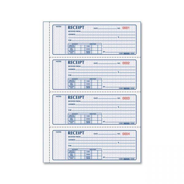 Rediform Money 2-Part Receipt Book