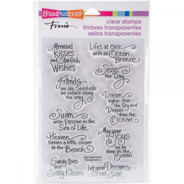 "Stampendous Perfectly Clear Stamps 4.625""X7.25"""