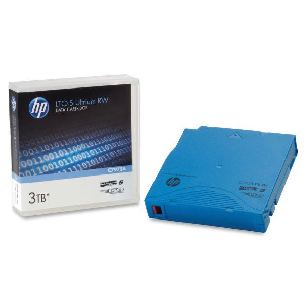 "HP 1/2"" Ultrium LTO-5 Cartridge, 2775ft, 1.5TB Native/3TB Compressed Capacity"