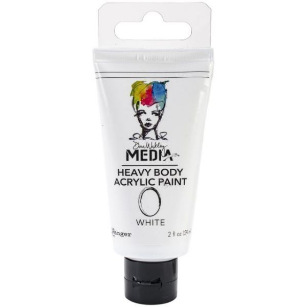 Dina Wakley Media Heavy Body White Acrylic Paints