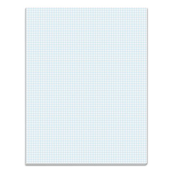 TOPS Quadrille Pads, 8 Squares/Inch, 8 1/2 x 11, White, 50 Sheets