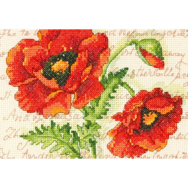 Dimensions Poppy Pair Mini Counted Cross Stitch Kit