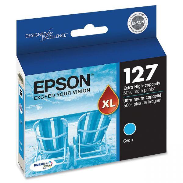 Epson 127 Cyan Extra High-Capacity Ink Cartridge (T127220)