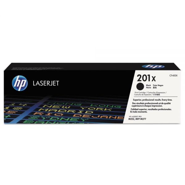 HP HP 201X, (CF400X) High Yield Black Original LaserJet Toner Cartridge