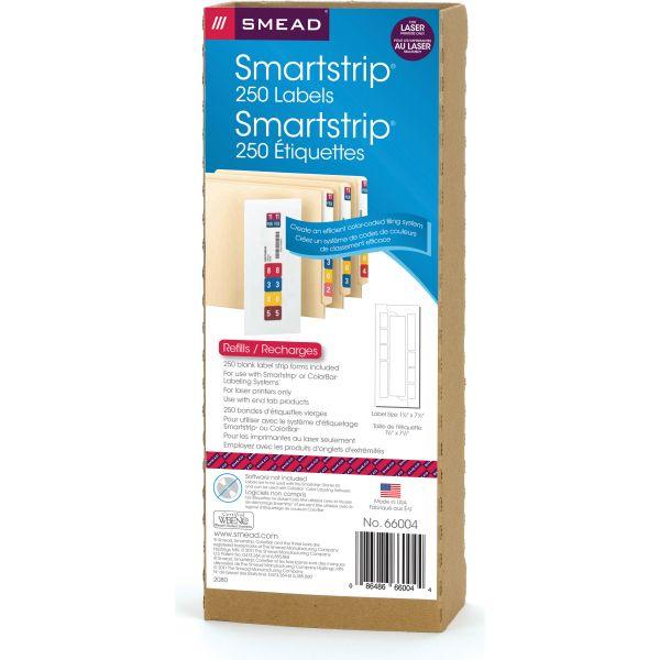 Smead SmartStrip Refill Label Kit, 250 Label Forms/Pack, Laser, 250/Pack