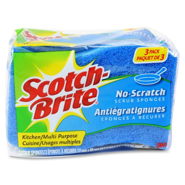 Scotch-Brite -Brite No Scratch Scrub Sponges