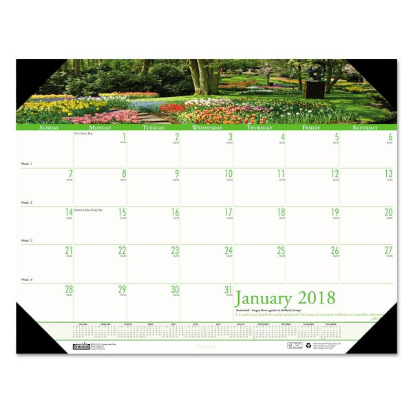 House of Doolittle Earthscapes Gardens of the World Monthly Desk Pad Calendar