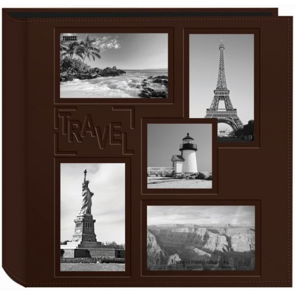 "Sewn Embossed Collage Frame 5-Up Photo Album 12""X12"""