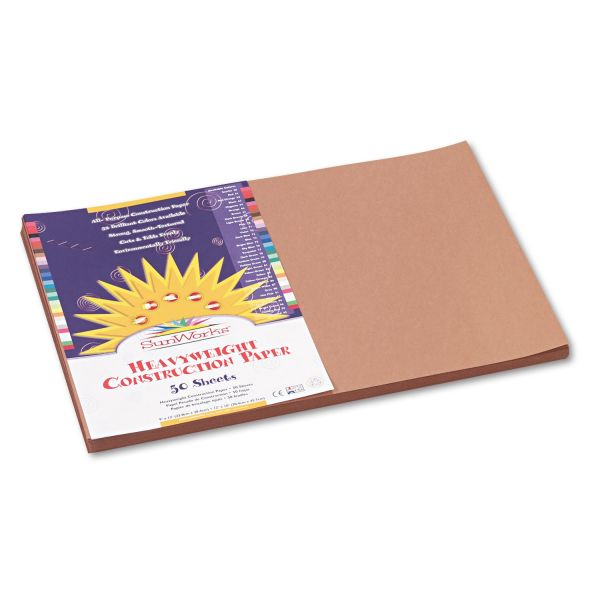 SunWorks Groundwood Brown Construction Paper