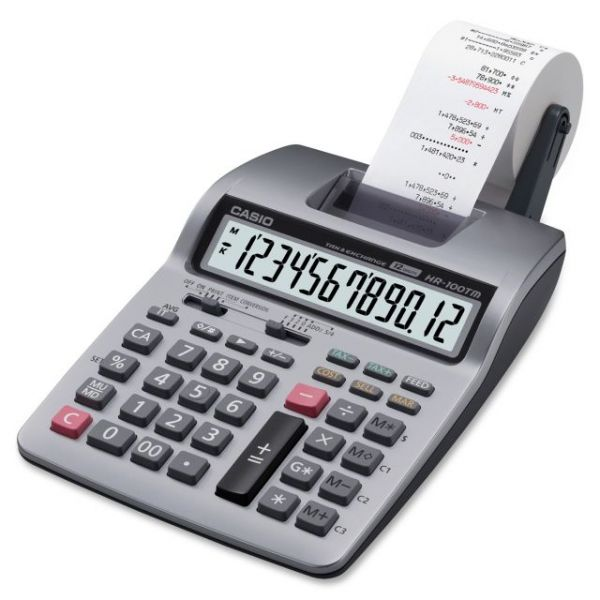 Casio HR-100TM Black & Red Printing Calculator